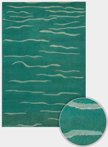 Daisa DAI 15 Teal Green by Chandra Rugs