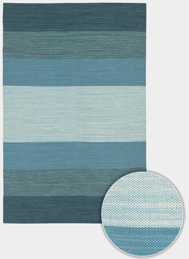 India IND-2 Blue by Chandra Rugs
