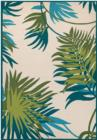 Couristan Covington 2992JungleLeaves 0505 Ivory Forest Green