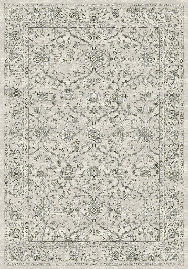 Ancient Garden 57136 9696 Silver Grey By Dynamic Rugs
