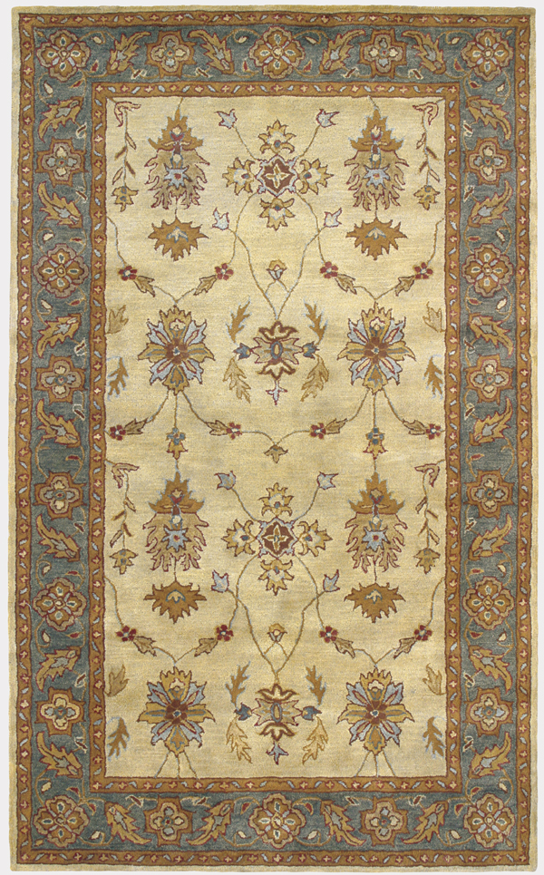 Charisma 1403 100 Ivory Blue By Dynamic Rugs