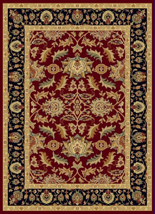 Navy Red Cream Black And Ivory Complimented With Shades Of Brown Light Blue Dense Weaving Enhances Pattern Definition Design Clarity