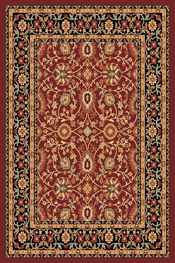 Yazd 2803 390 Red Black By Dynamic Rugs