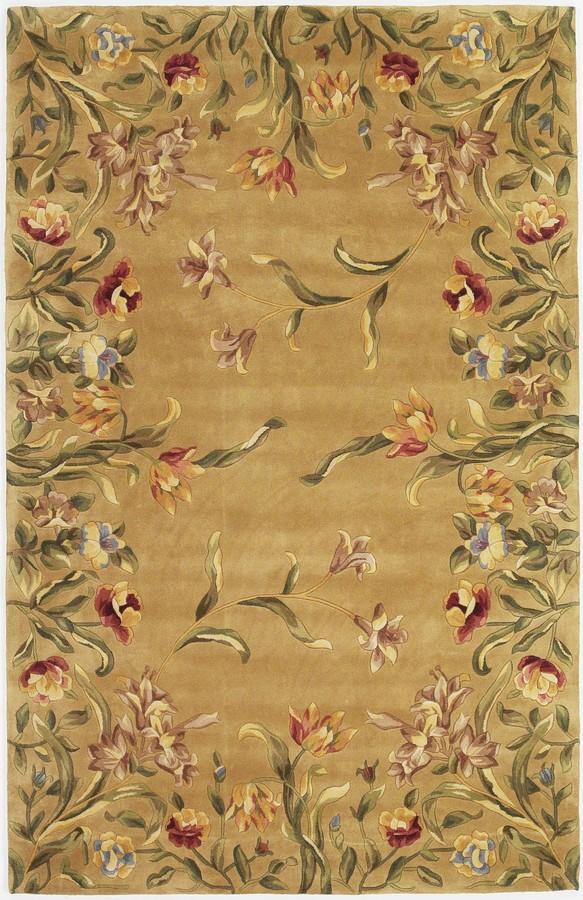 Emerald Tulip Garden 9080 Gold By Kas Oriental Rugs