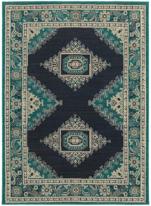 Highlands 6658a Blue Ivory By Sphinx Oriental Weavers